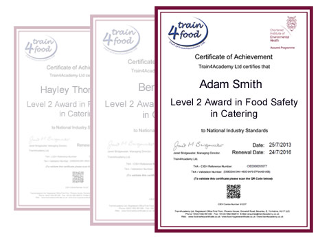 Food hygiene certificate training online food hygiene for Health and safety certificate template