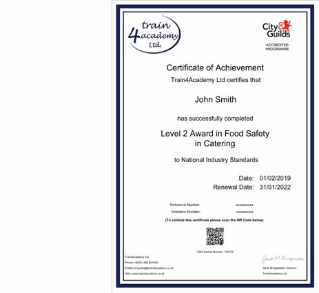 Food Hygiene Certificate Online Food Safety Courses