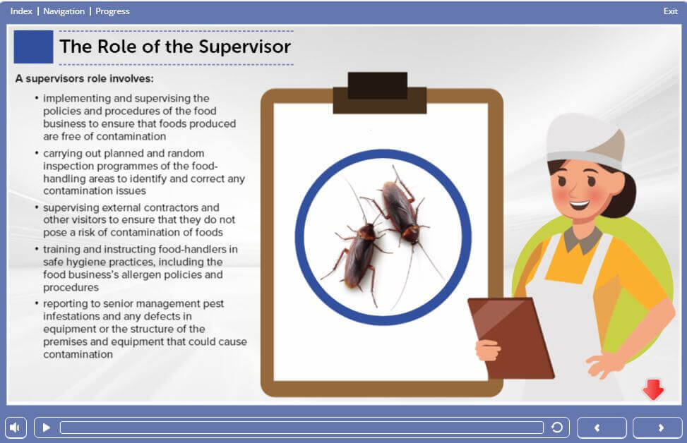Module 2 – Screen 1.25 - Level 3 Food Safety and Hygiene for Supervisors